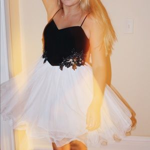 beautiful beaded black and white dresss!!!!